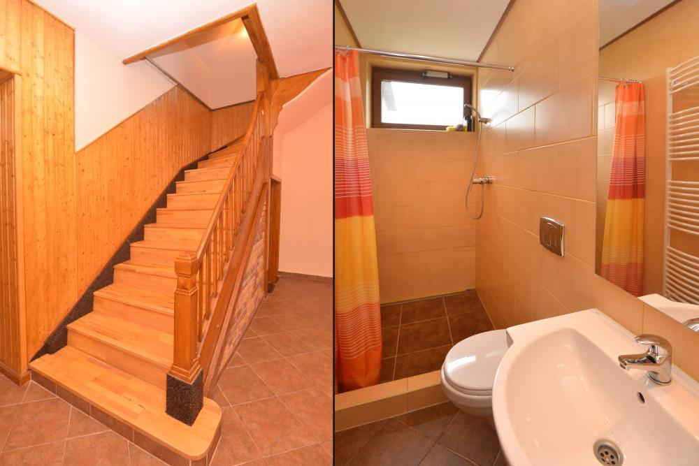 schodiště a toalety