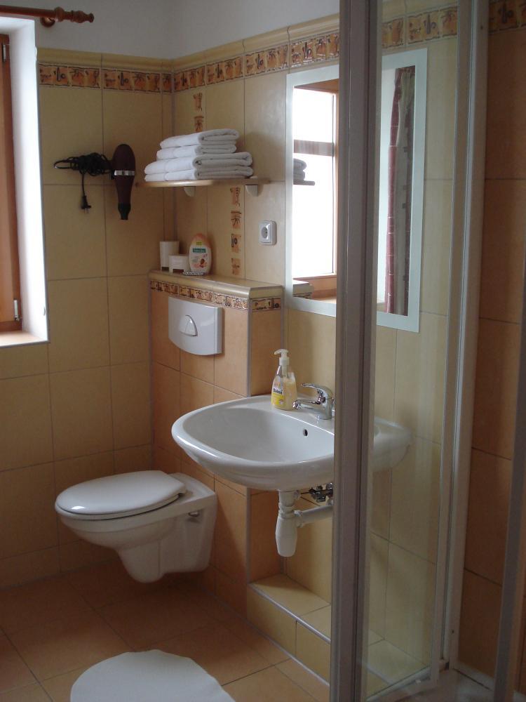 koupelna dvoulůžkový pokoj