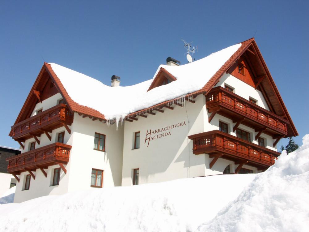 Harrachovská Hacienda v zimě
