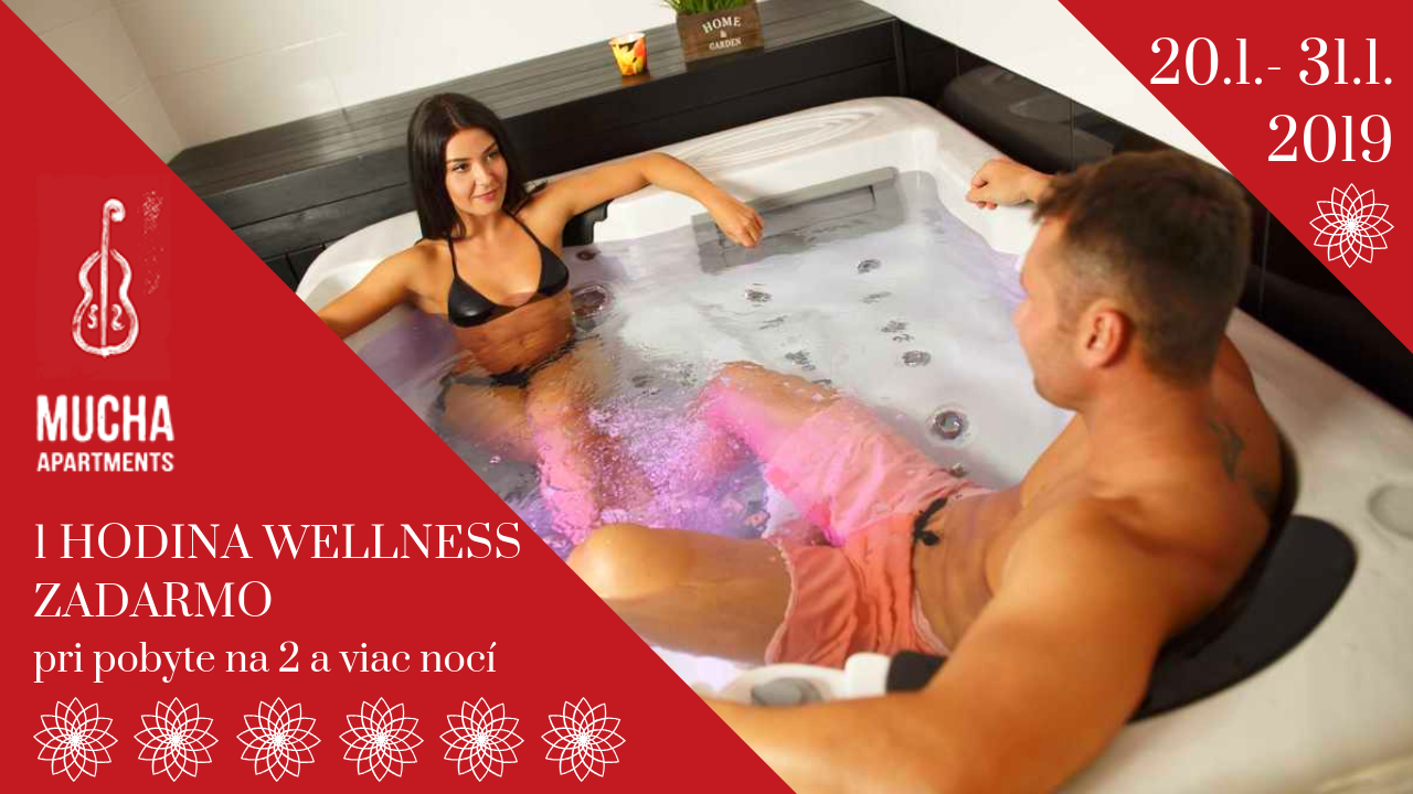 Wellness zadarmo - Mucha Apartments