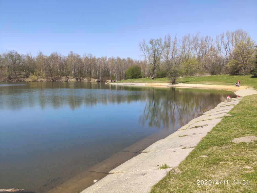 Kališovo jezero - letní koupání