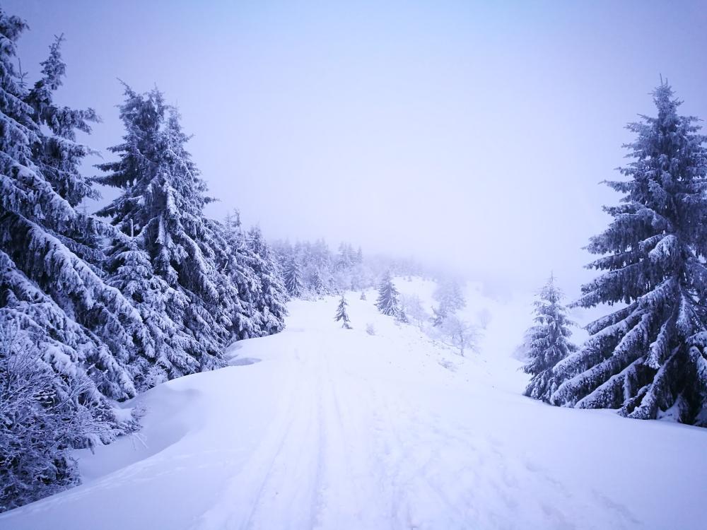 Zima na hřebeni Javorníků