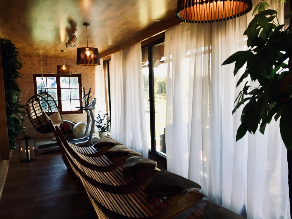 Sauna zóna Hájenka (relaxační místnost s výhledem)
