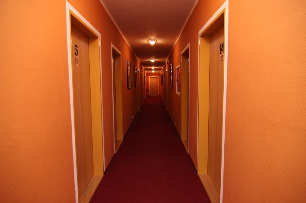 Centrální chodba hotelu
