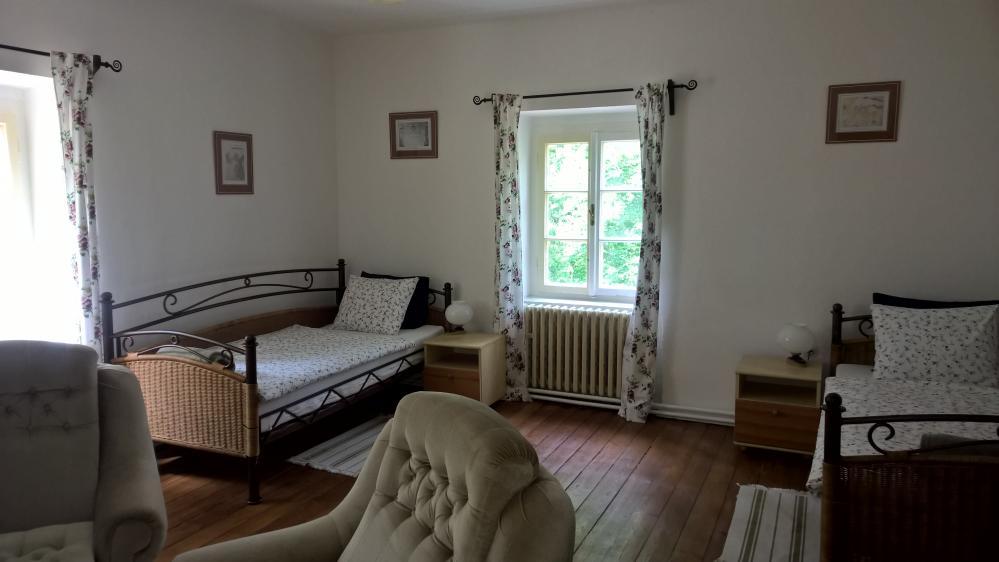 obývací pokoj apartmanu,penzion Fořtovna,jižní Čechy