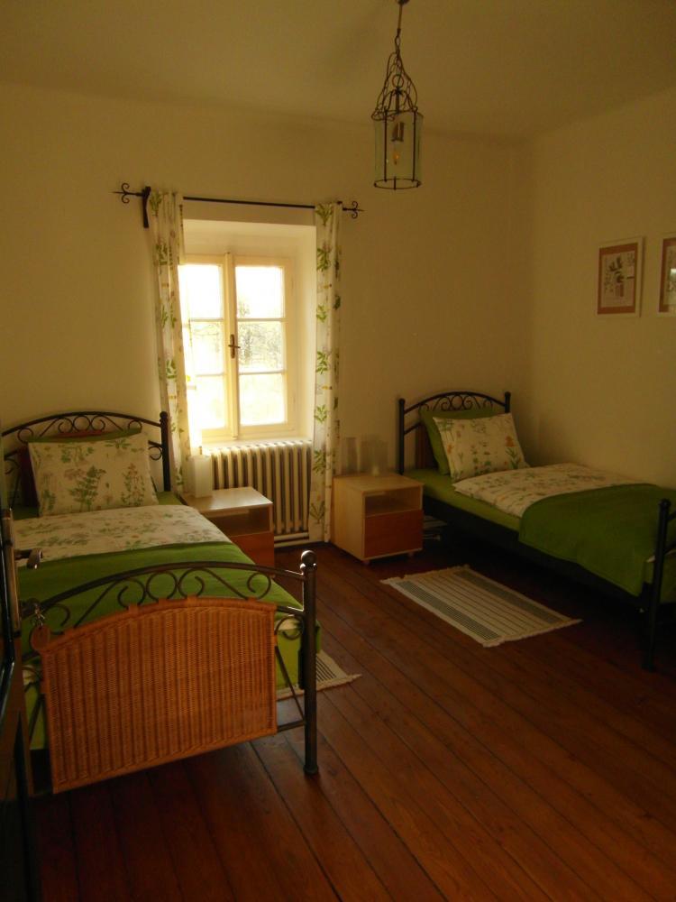 2.ložnice apartmanu, penzion Fořtovna, Cerhonice, jižní Čechy