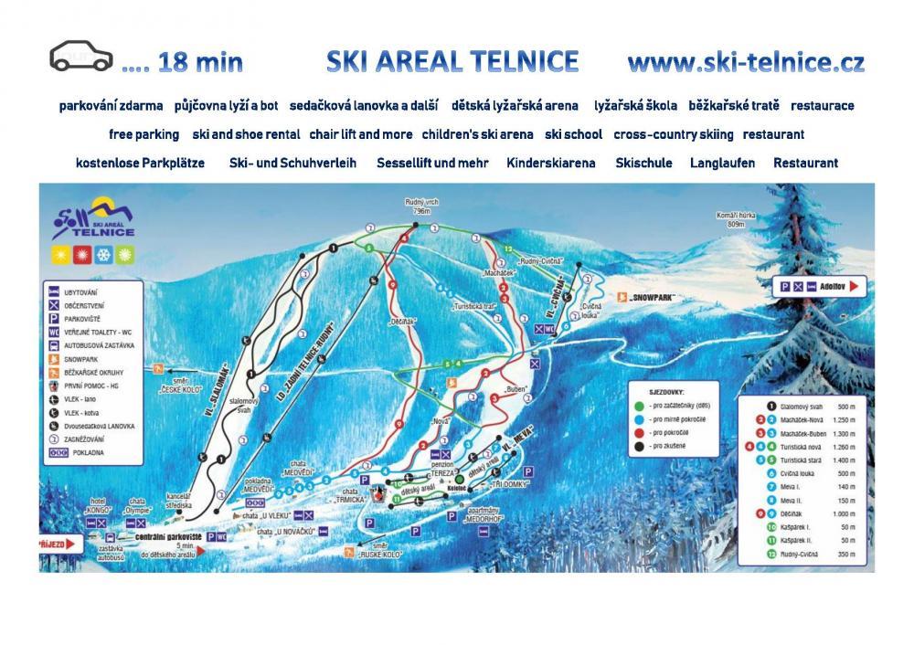 Skiareal 18 min