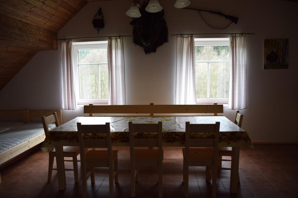 obývací pokoj s kuchyn