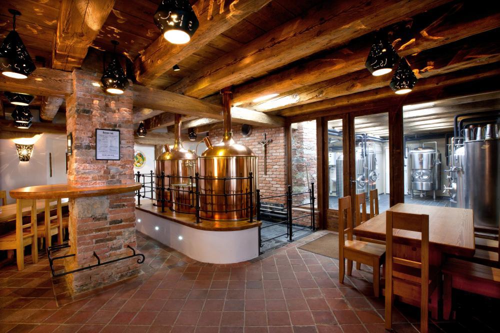 Pivovarská restaurace-měděné varny