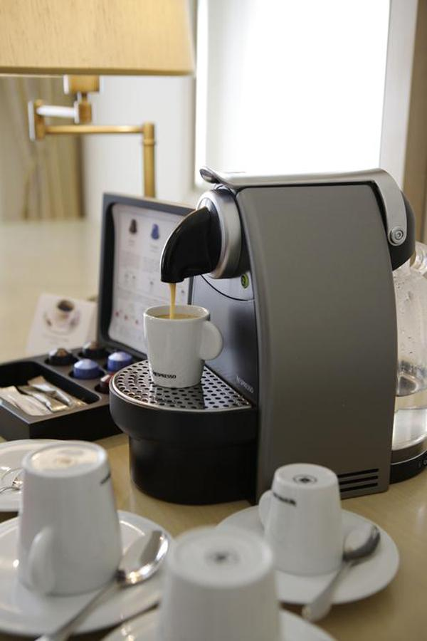 Kávovar - kategorie pokojů Lux a Apartmá