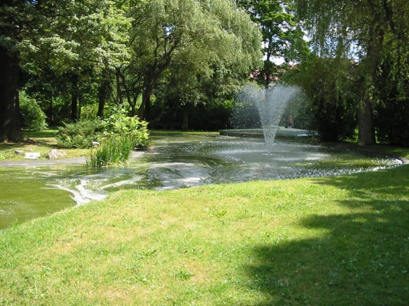 park ve Františkových lázních