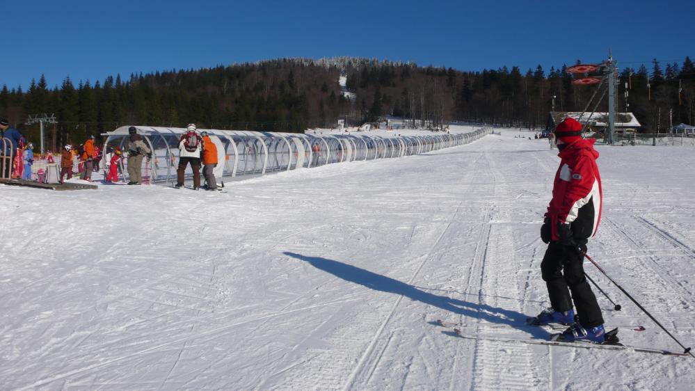 Skiareál Hochficht - krytý dětský pás
