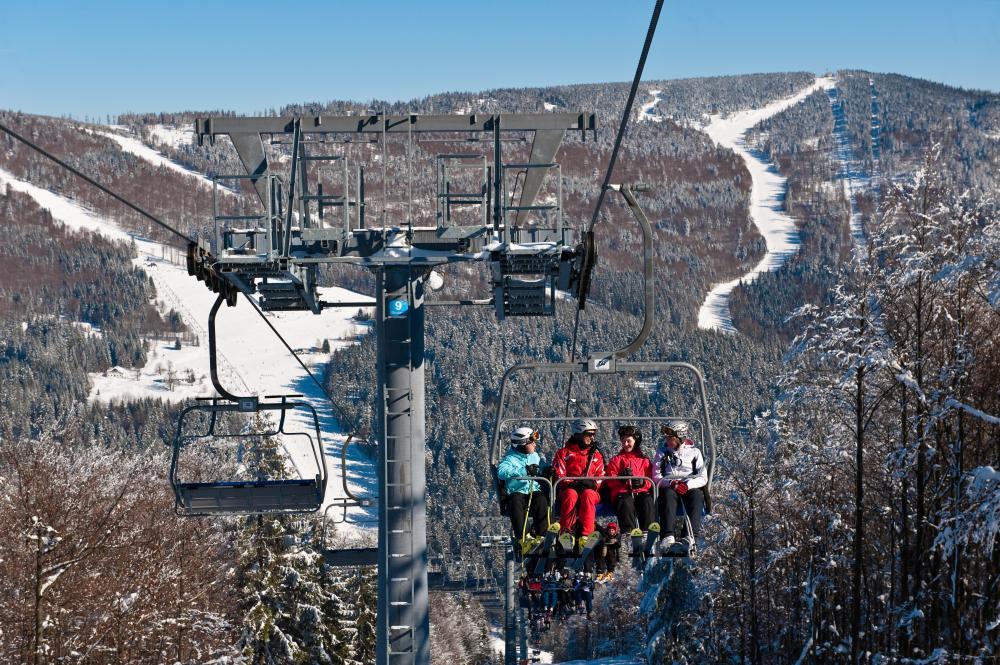 Skiareál Hochficht - lanovka