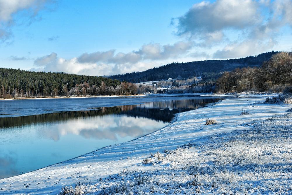 Lipenská přehrada zima
