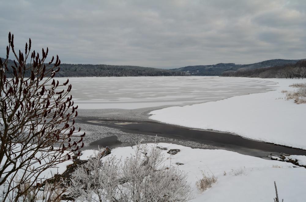 Zamrzlá Lipenská přehrada