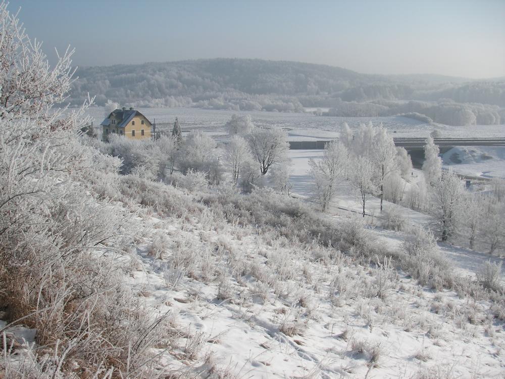 zimní pohled z Větrnéhovrchu