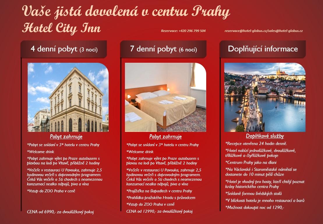 Pobyt v centru Prahy