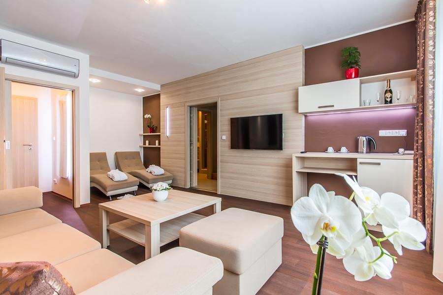 wellness apartmán - obývací pokoj