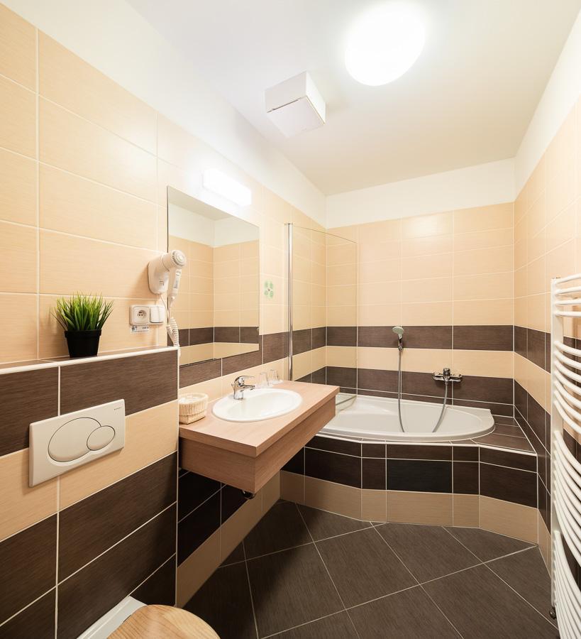 koupelna mezonetový apartmán