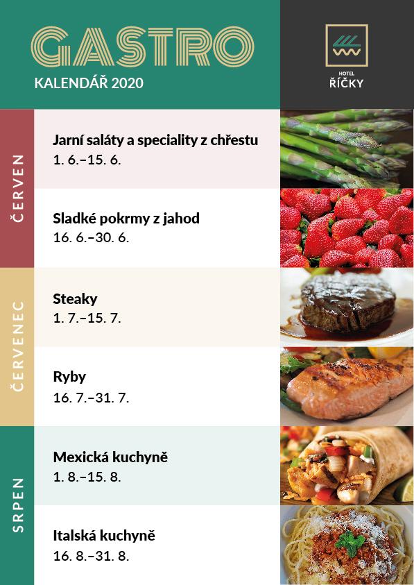 GastroKalendář 2020, restaurace Wellness hotelu Říčky