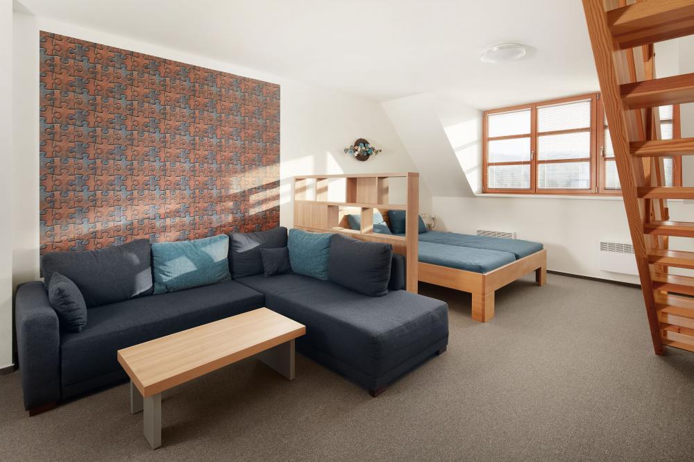 Mezonetový šestilůžkový pokoj s možností přistýlky