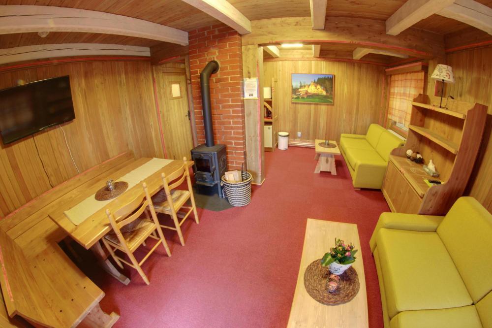 Velké apartmá chaty Měsíček - obývací místnost