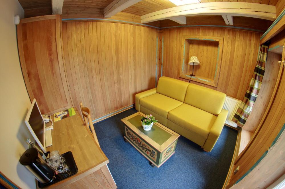 Malé apartmá - obývací místnost