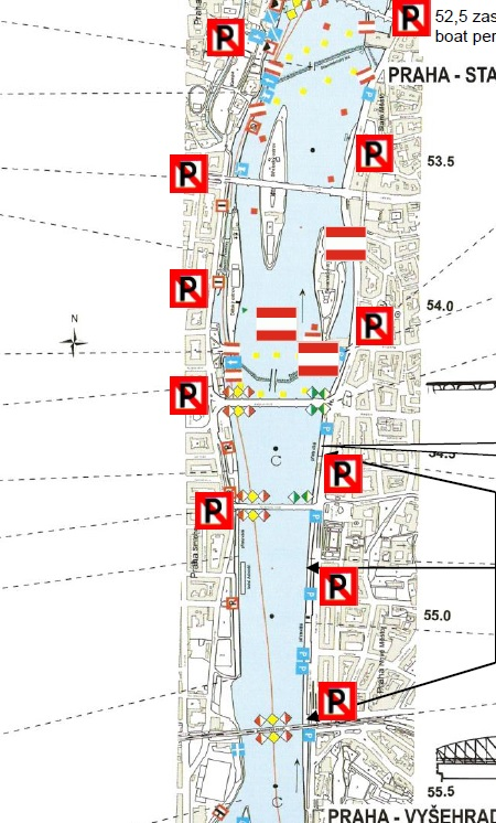 Zákaz parkování plavidel na Náplavce