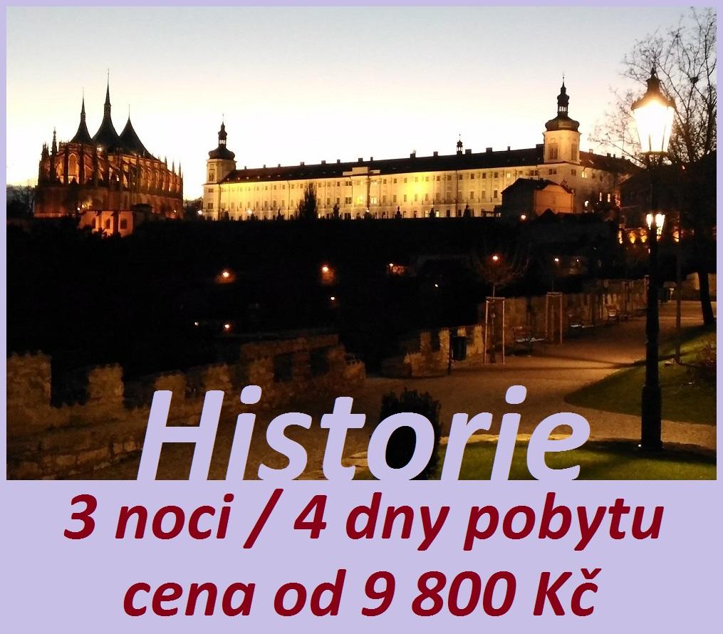 pobytový balíček historie