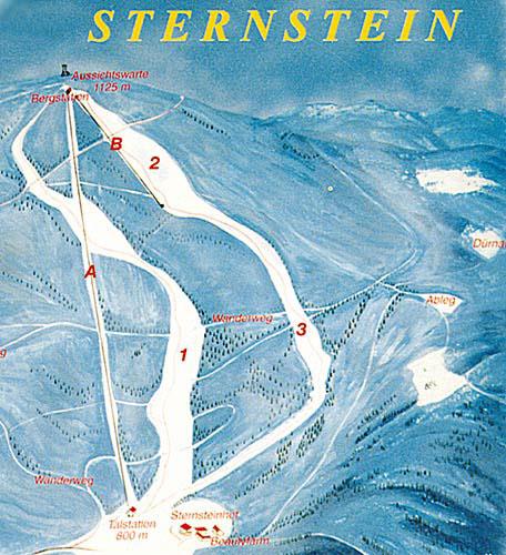 Mapa skiareálu