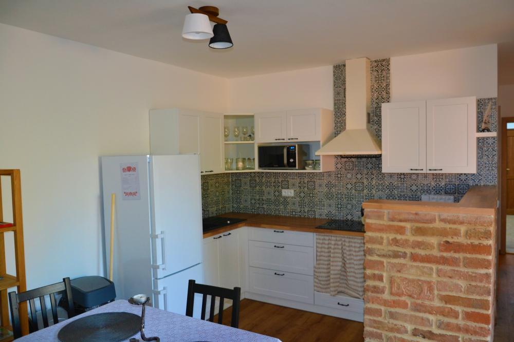 Apartmán s terasou - Jídelna s kuchyní