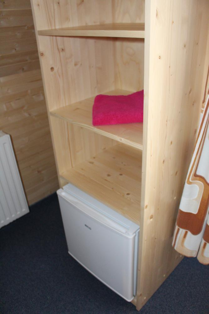 Minibar v jednolůžkovém pokoji