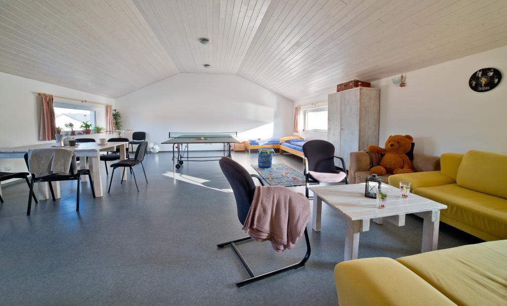 Obývák, jídelna, herna, kuchyň, 2 lůžka navíc
