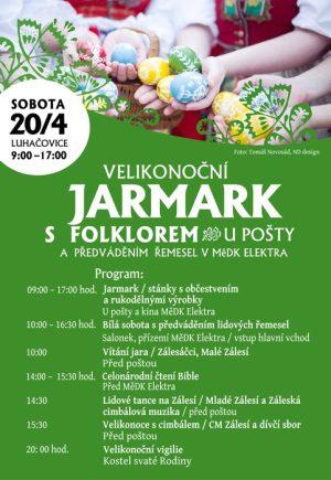 Velikonoční jarmark s folklorem v Luhačovicích