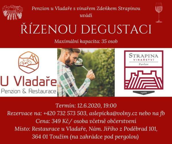Řízená degustace s vinařem Zdeňkem Strapinou