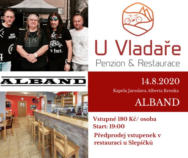 Koncert u Vladaře! Skupina ALBAND - LÍSTKY V PRODEJI