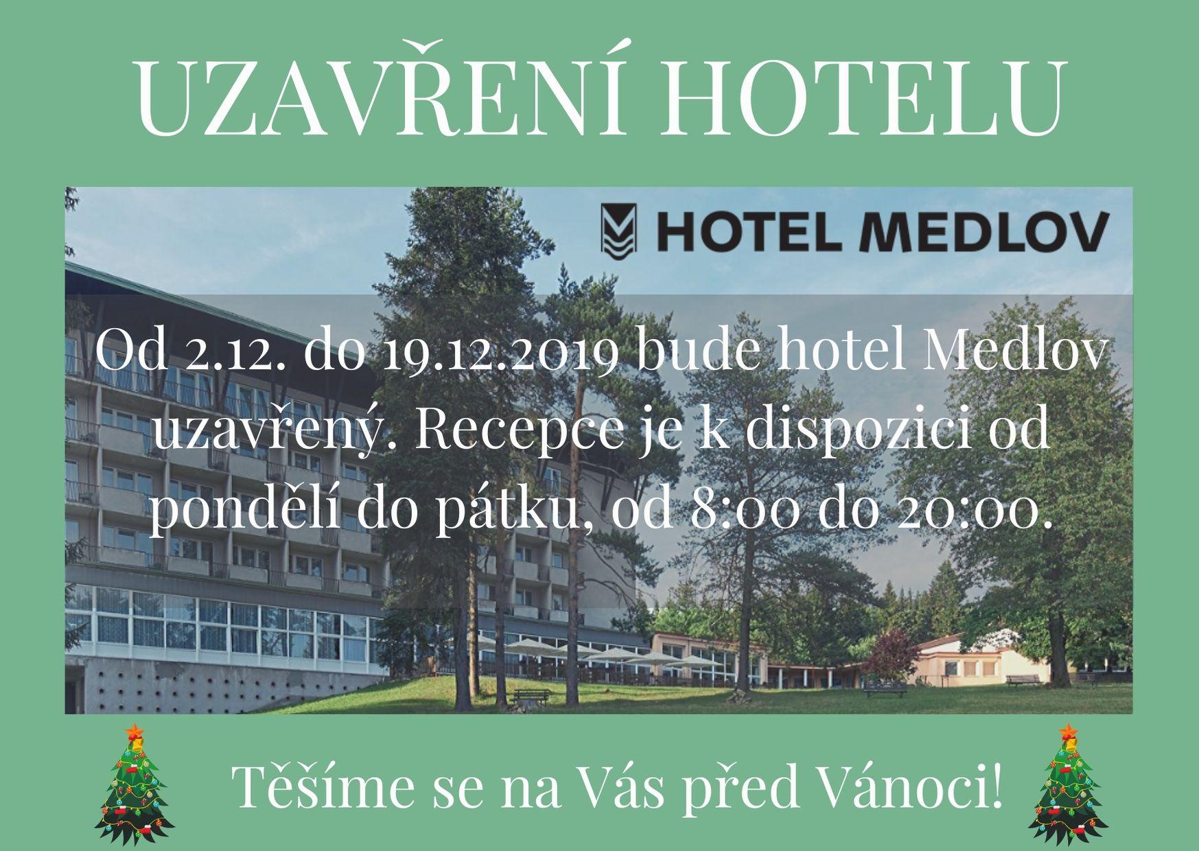 Plánovaná uzavírka hotelu