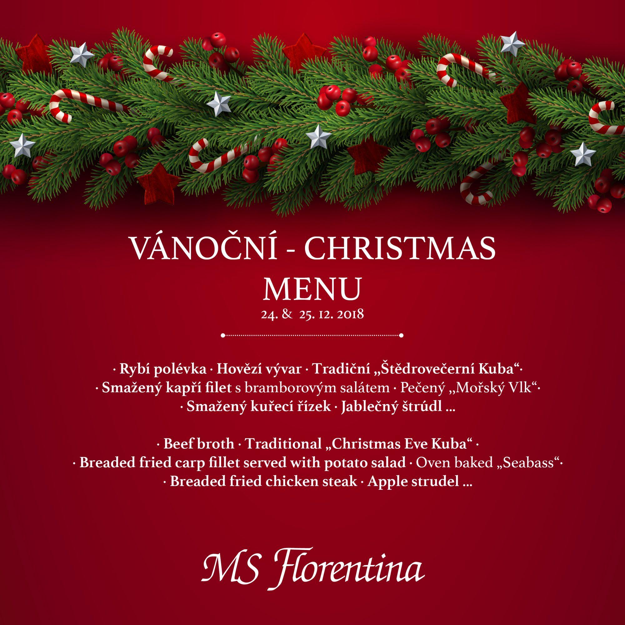 Vánoční menu na Florentině