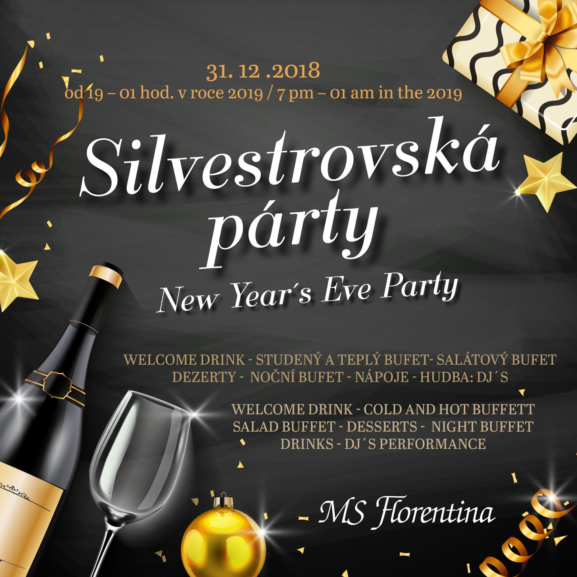 Silvestrovská párty na lodi Florentina!
