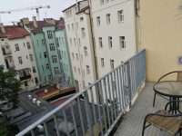 výhled z balkónu - SKLEP accommodation - apartmány a hostel v centru Prahy