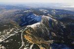 Sněžka - letecký snímek - Horský penzion ČERNAVA